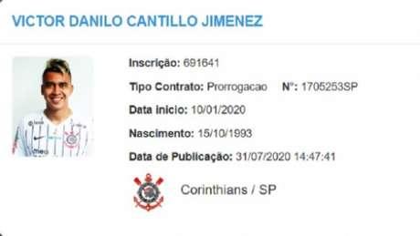 Cantillo já teve seu nome publicado no BID (Foto: Reprodução/BID)