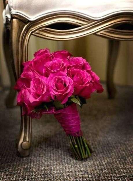 67. Buquê de rosas pink – Via: Pinterest