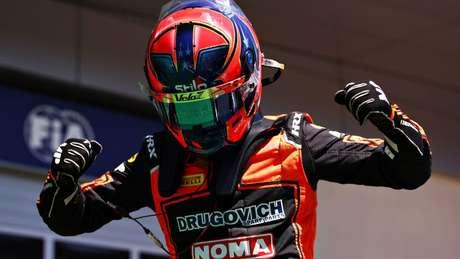 Felipe Drugovich conquistou sua primeira pole-position em corridas principais na F2