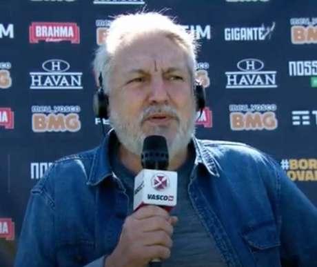Dirigente pediu paciência aos vascaínos quanto aos reforços (Foto: Reprodução/Vasco TV)