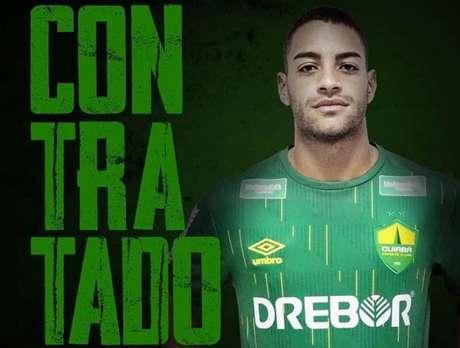 Felipe Ferreira já foi anunciado pelo Cuiabá, onde vai disputar a Série B do Brasileirão (Foto: Divulgação/Cuiabá)