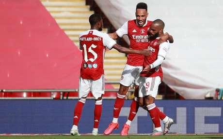 Aubameyang é a grande estrela do atual time do Arsenal (Foto: ADAM DAVY / AFP)