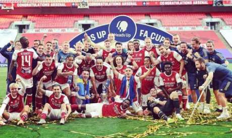 Arsenal foi campeão da FA Cup 2019/2020 (Divulgação)