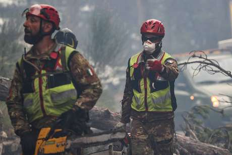 Chamas estão atingindo a região italiana há quatro dias
