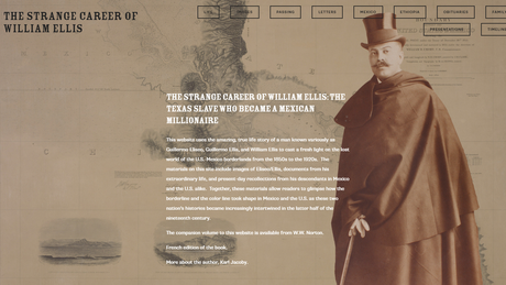 Site criado por historiador Karl Jacoby sobre história de William Ellis, williamhellis.com