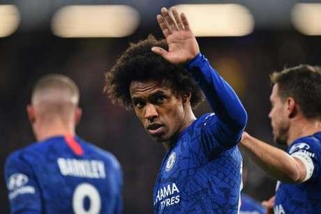 Willian fez um grande retorno de campeonato pelo Chelsea (Foto: AFP)