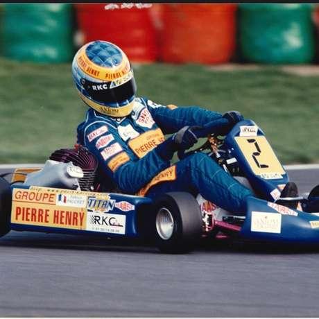 Fabien Pauchet em ação nos karts durante os anos 1990