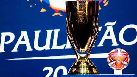 Troféu de campeão do Campeonato Paulista 2020