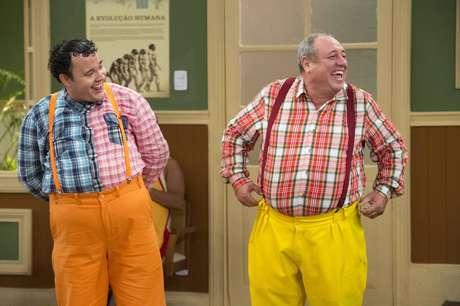 Gui Santana e Pedro Bismark como 'Nerson da Capitinga' na 'Escolinha'