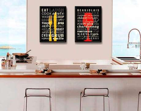 58. A decoração quadros para cozinha chamam a atenção. Fonte: Pinterest
