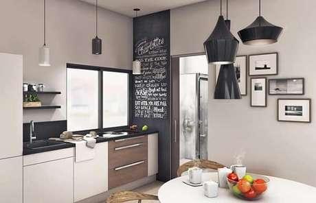 5. Composição harmônica de altura, proporção e formato entre os quadros decorativos para cozinha. Fonte: Pinterest