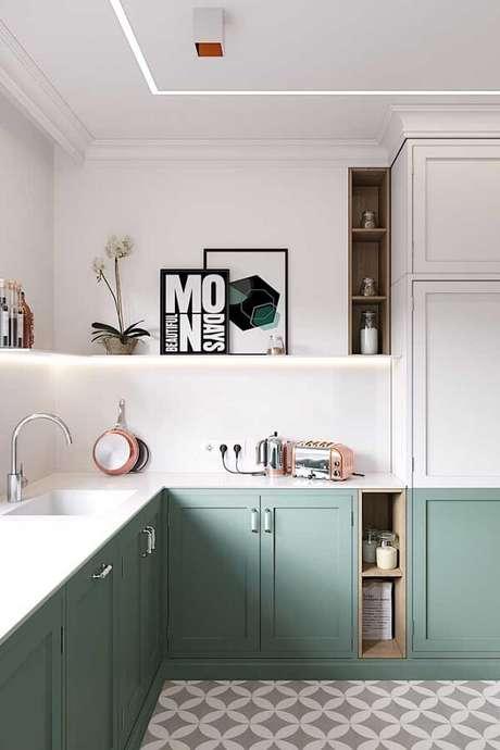 54. Fixados na parede ou apoiados na prateleira os quadros enchem o ambiente de descontração. Fonte: Pinterest