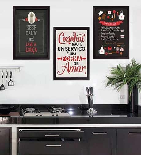 51. kit quadros decorativos para cozinha com design criativo. Fonte: Elo7