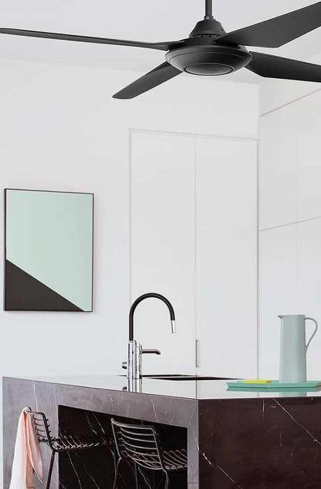 46. Modelo de quadro para decorar cozinha para aqueles que apreciam o estilo minimalista. Fonte: Pinterest