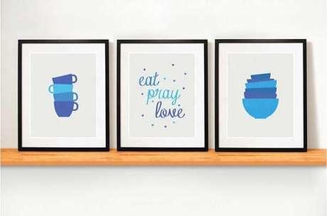 36. Os fãs do livro e filme vão amar esse kit quadros decorativos para cozinha. Fonte: Pinterest
