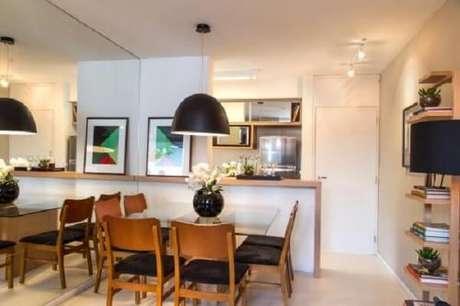 22. Quadros decorativos para cozinha com desenhos geométricos e abstratos trazem personalidade ao espaço. Fonte: Pinterest