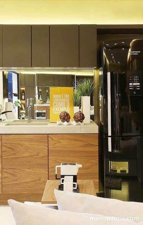 20. Quadros decorativos para cozinha com frases motivacionais para começar bem o dia. Fonte: Pinterest