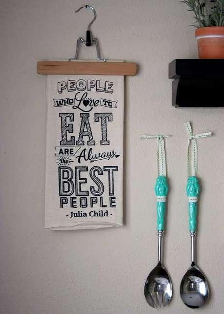 16. Quadros decorativos para cozinha com frases que inspiram qualquer chefe. Fonte: Pinterest