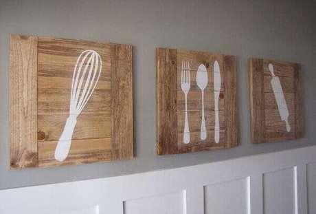 11. Utensílios de cozinha servem de inspiração para a criação dos quadros. Fonte Pinterest