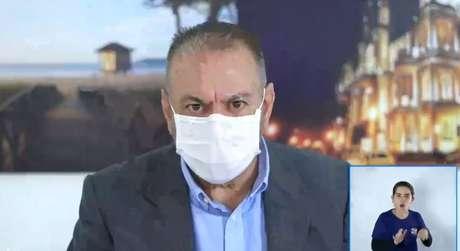 Prefeito de Itajaí (SC), Volnei Morastoni (MDB), durante live no Facebook.