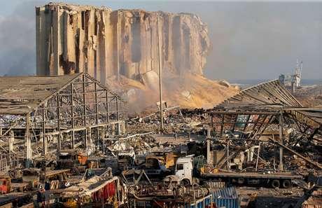 Danos causados por explosão na área portuária de Beirute, no Líbano 05/08/2020 REUTERS/Mohamed Azakir