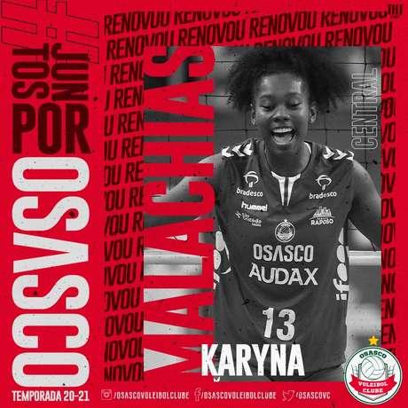 Karyna Malachias vai para sua segunda temporada no clube (Foto: Divulgação)