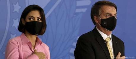 Bolsonaro e a primeira-dama, Michelle