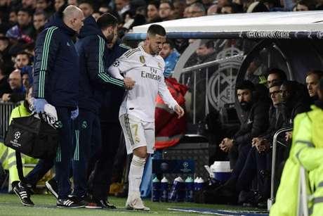 Hazard tem sua primeira temporada marcada por lesões no Real Madrid (Foto: AFP)