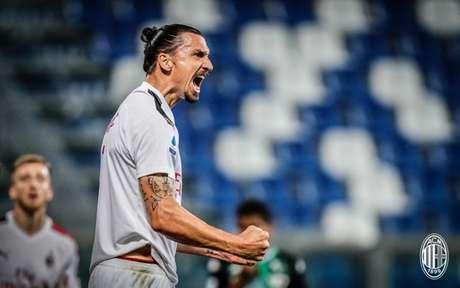 Ibrahimovic encerra seu contrato no final desta temporada (Foto: Divulgação / Milan / Site oficial)