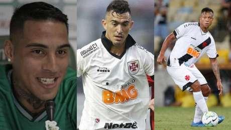 Carlinhos chegou, Raul e Guarín podem sair (Divulgação Guarani FC; Rafael Ribeiro/Vasco; Rafael Ribeiro/Vasco)