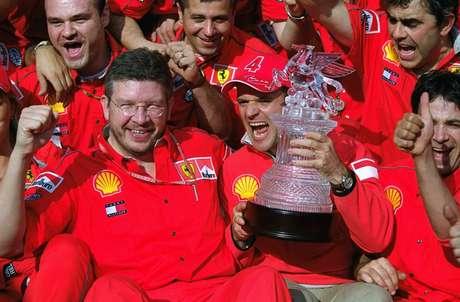 A festa na Ferrari foi bastante animada
