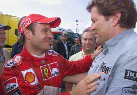 Barrichello foi felicitado por diversas figuras do paddock da F1