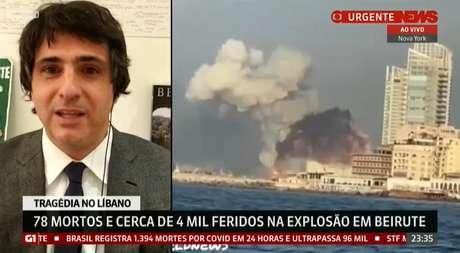 Jornalista foi elogiado pelos colegas de TV pela aula de história e cultura a respeito do Líbano