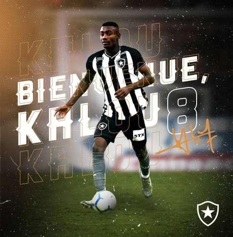 A contratação de Kalou foi anunciada em julho (Foto: Divulgação/Botafogo)