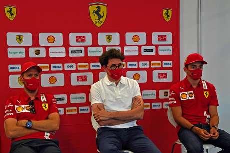 Entre o passado e o futuro, a Ferrari prioriza Leclerc e deixa Vettel com as sobras