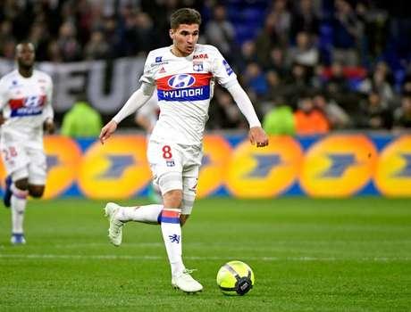 Desde que subiu aos profissionais em 2017, Aouar fez 131 partidas e marcou 24 gols pelo Lyon (Divulgação/Lyon)