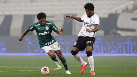 Corinthians e Palmeiras fizeram um dérbi sem gols e sem muita qualidade, na Arena (Foto: Cesar Greco/Palmeiras)