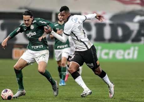 Jô projetou o segundo jogo da final e não achou ruim o empate em 0 a 0, em casa (Foto: Rodrigo Coca/Ag. Corinthians)