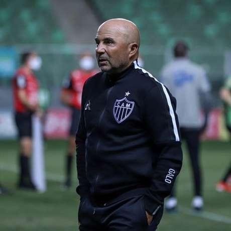 Jorge Sampaoli surpreende com mudanças constantes no time e no sistema de jogo do Galo-(Bruno Cantini/Atlético-MG)