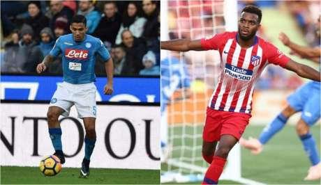 Se Allan for para o Everton, Vasco recebe parte da grana (Foto: Divulgação / Napoli; Divulgação / Atlético de Madrid)