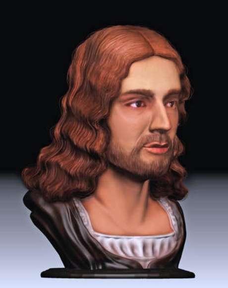 Reconstrução em 3D do rosto de Rafael Sanzio
