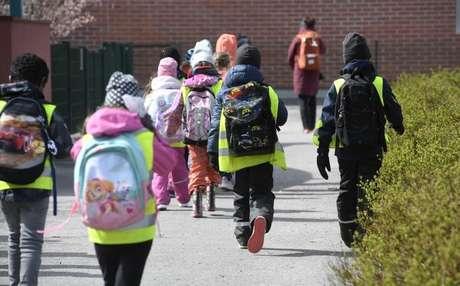 Escolas finlandesas retomaram aulas depois de terem fechado por causa da pandemia
