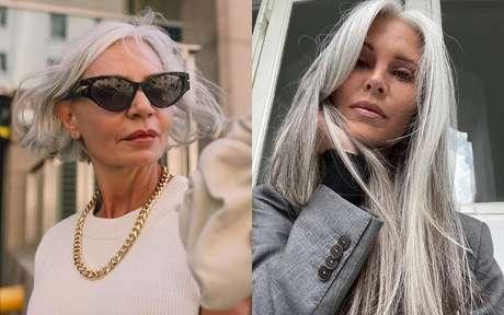 Influenciadoras de cabelo grisalho