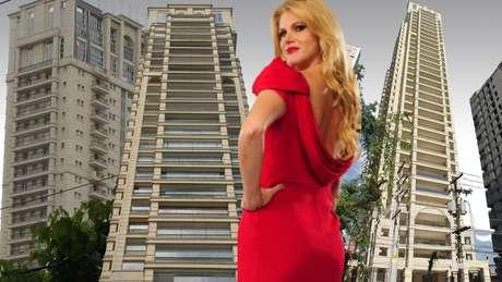 Val Marchiori é a moradora mais famosa do prédio mostrado várias vezes no noticiário