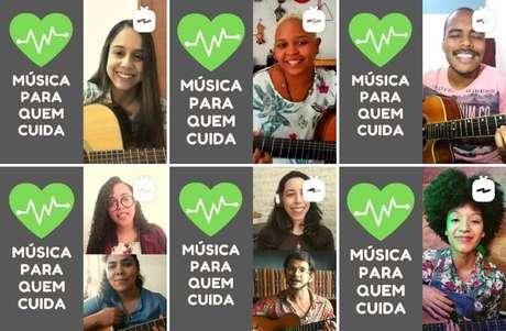 Projeto de musicoterapia da UFMG homenageia profissionais da saúde durante a pandemia.