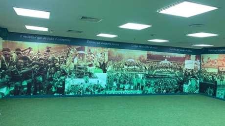 Palmeiras envelopou vestiário de visitante do Allianz Parque
