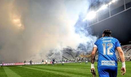 Cássio marcou ainda mais seu nome da história do Corinthians (Foto: Rodrigo Coca/Ag. Corinthians)