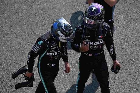 Lewis Hamilton e Valtteri Bottas foram derrotadas no melhor ritmo da Red Bull
