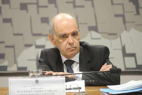 Embaixador Everton Vieira Vargas, durantesabatina no Senado, em 2016