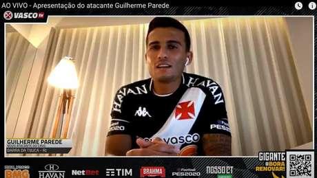 Guilherme Parede poderá ser titular já no primeiro jogo pelo Cruz-Maltino (Reprodução/YouTube)